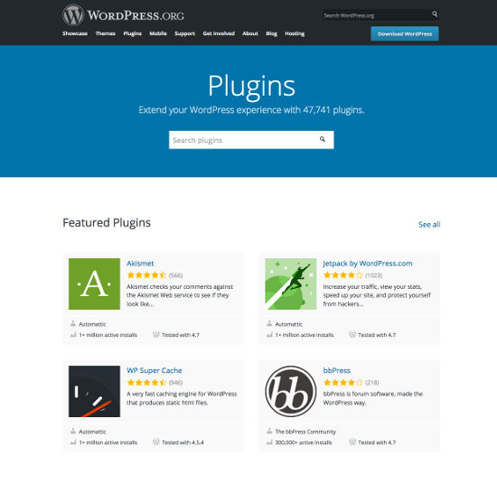 WordPress plugin direktori