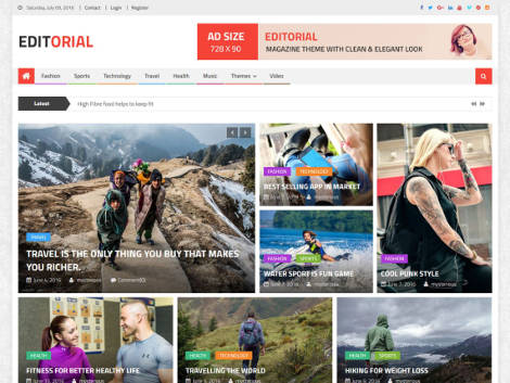 Theme WordPress Editorial Gratis