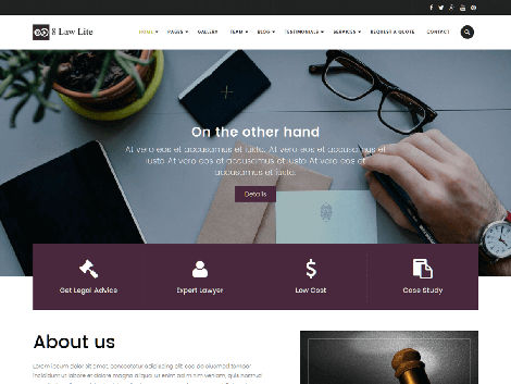 Theme WordPress Eightlaw lite responsive