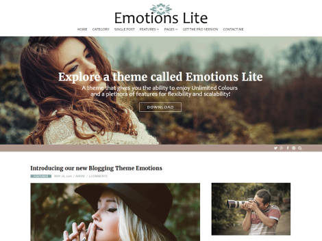 Theme WordPress Emotions Lite Responsive Free