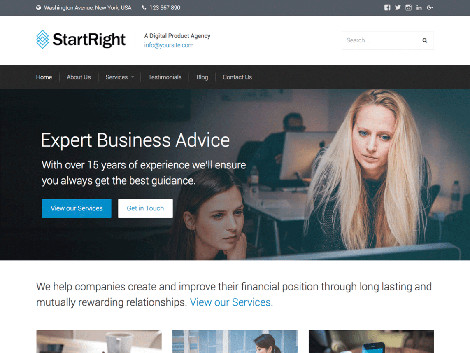 Theme WordPress StartRight Free