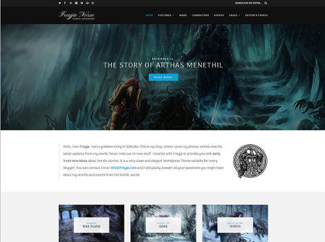 Freyja Theme WordPress blog free