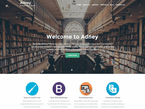 Theme WordPress Adney Responsive Free