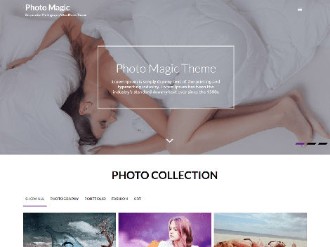 Theme WordPress Photo Magic Free