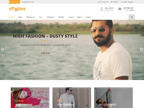 Theme WordPress WP Store Responsive Free