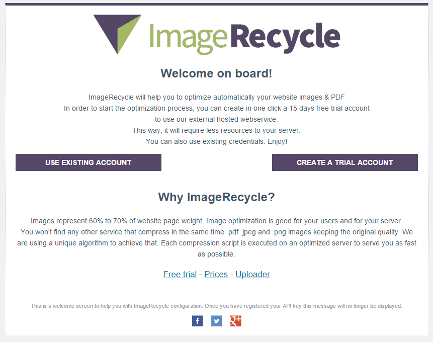after install ImageRecycle