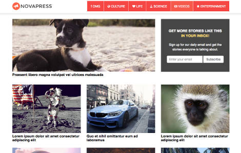 NovaPress Theme WordPress Free