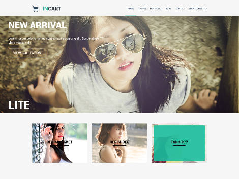 InCart Lite Responsive Free WordPress Theme