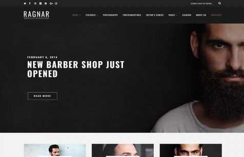 Theme WordPress Ragnar Responsive Free