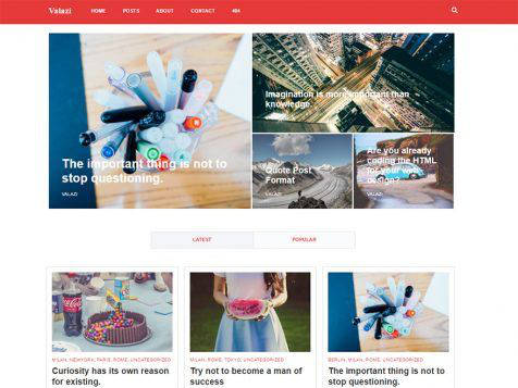 Theme WordPress Valazi Responsive Free