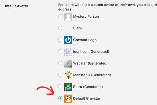 change the default wordpress gravatar gravatar