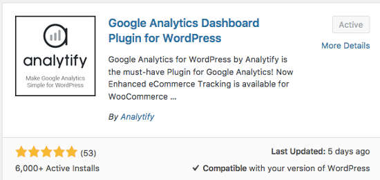 Plugin Analytify