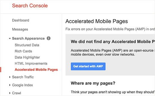 WordPress amp google search console