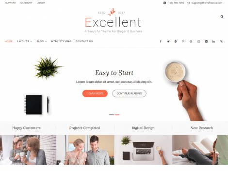 Excellent Responsive Free WordPress Theme
