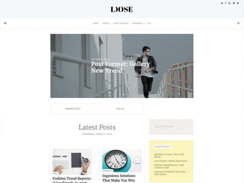 Theme WordPress Loose Responsive Free
