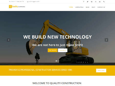 Theme WordPress Quality construction