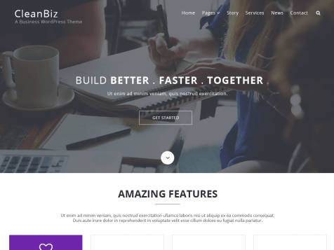 Theme WordPress Clean Biz Responsive Free | Centerklik™