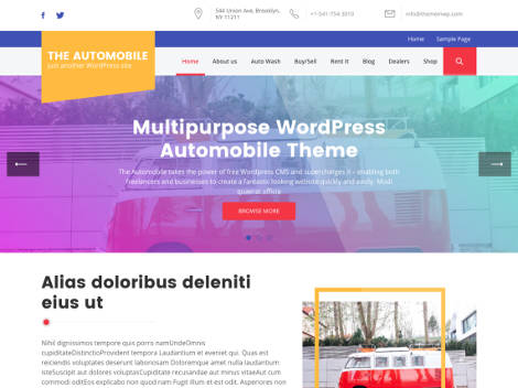 The Automobile Free WordPress Theme