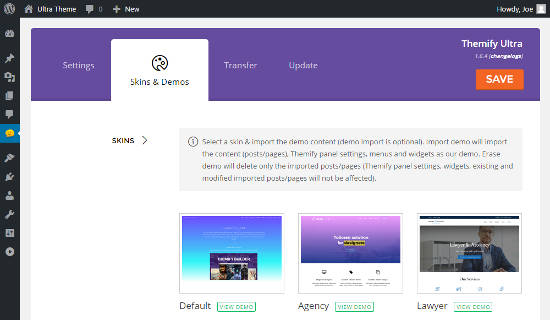 Ultra WordPress Theme Review Import