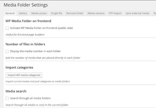 Wp media folder settings