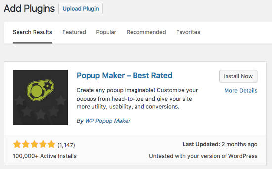 Install the popup maker