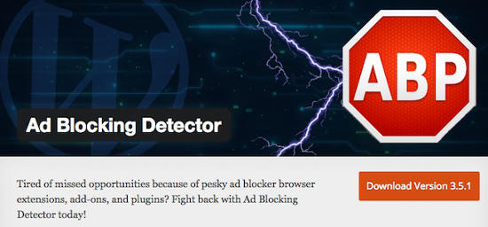 Plugin Ad Blocking detector