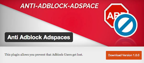 Plugin Anti adblock Adspaces