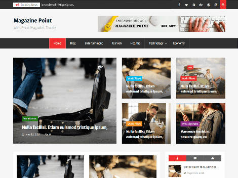Theme WordPress Magazine Point Responsive Free