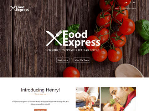 Theme WordPress Responsive Food Express Free
