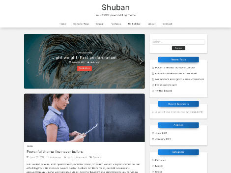 Theme WordPress Shuban Responsive Gratis