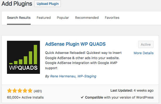 WP Quads Plugin