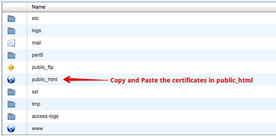 Copy Paste Certificates Public_html Install SSL Sertifikat