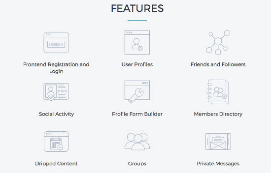 Membership by supsystic Features membuat website keanggotaan wordpress