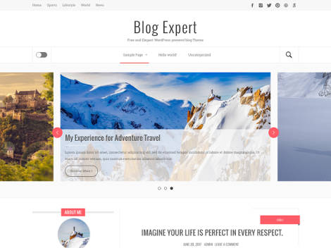 Theme WordPress Blog Expert Responsive Free