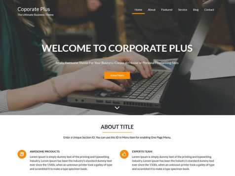 Theme WordPress Corporate Free