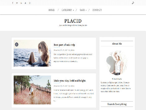 Theme WordPress Placid Responsive Free