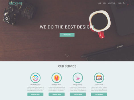 Theme WordPress Unicons Responsive Free