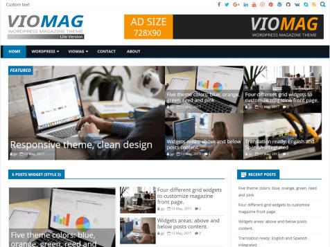Theme WordPress VioMage Responsive Free