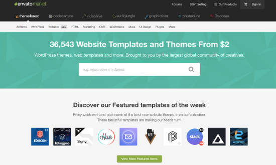 membeli tema WordPress di Themeforest