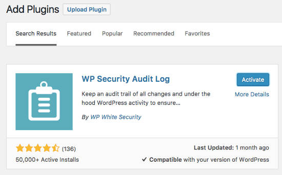 WP Security Audit Log Plugin monitoring keamanan WordPress