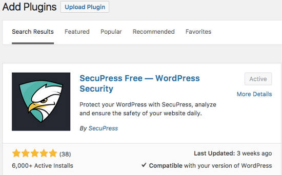 SecuPress Plugin