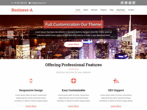 Theme WordPress Business A Free