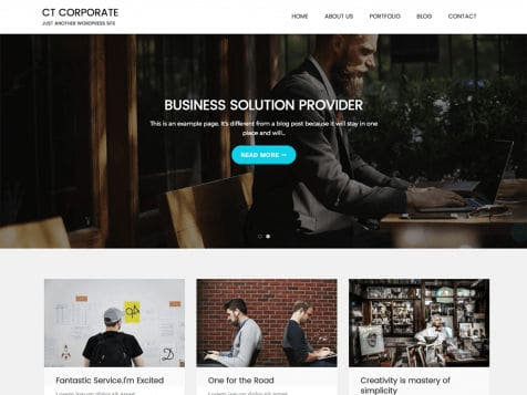 Theme WordPress CT Corporate Free