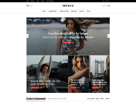 Theme WordPress Neville Responsive Free