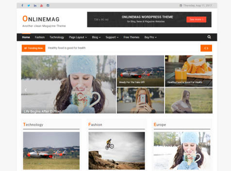 Theme WordPress OnlineMage Responsive Free