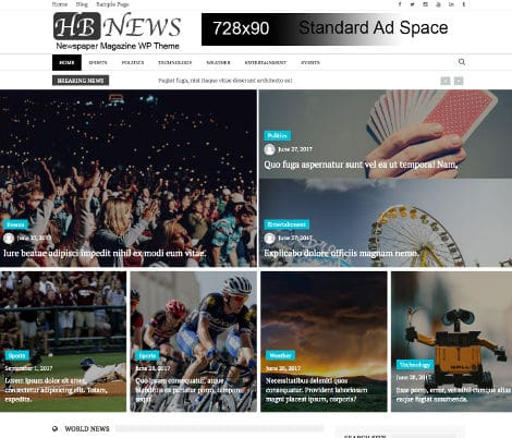 Theme WordPrsess Newspaper Magazine Free