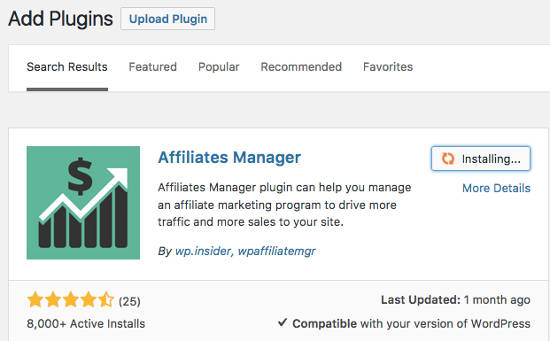 WP Affiliate Manager Plugin