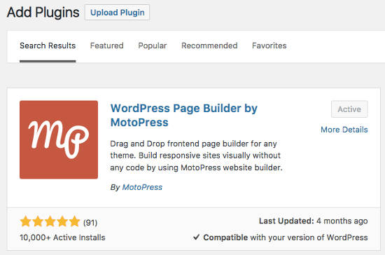 MotoPress Page Builder Plugin
