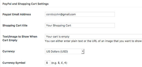 PayPal Setting Simple PayPal Shopping Cart