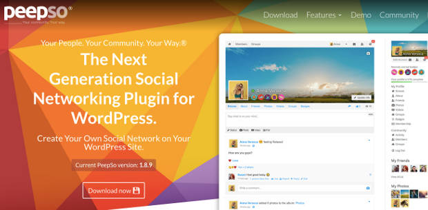 PeepSo Plugin Jejaring Sosial WordPress